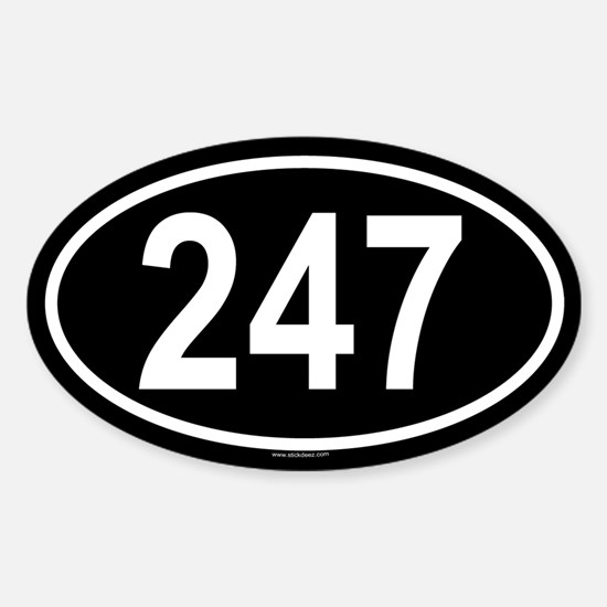 247 Oval Decal