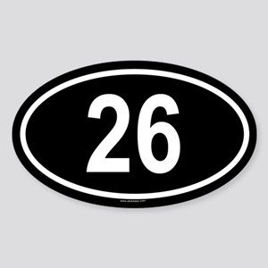 26 Oval Sticker