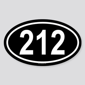 212 Oval Sticker
