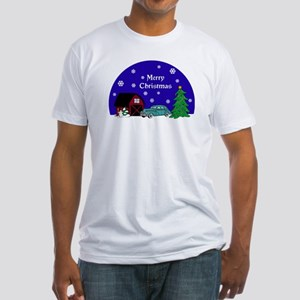 Classic Car Christmas Fitted T-Shirt