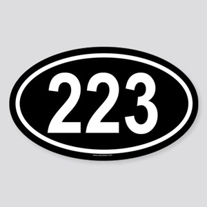 223 Oval Sticker