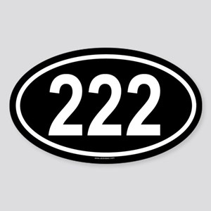 222 Oval Sticker