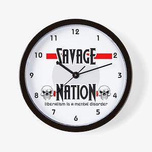 Savage Nation Wall Clock