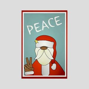 Peace Out Santa Rectangle Magnet