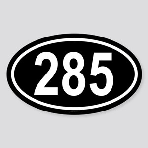 285 Oval Sticker