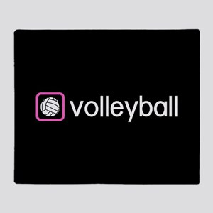 Volleyball (Pink) Throw Blanket