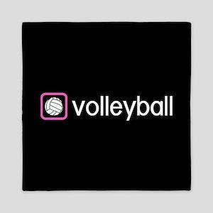Volleyball (Pink) Queen Duvet