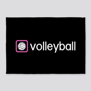 Volleyball (Pink) 5'x7'Area Rug