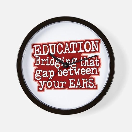Maroon, Education Bridging The Gap Wall Clock