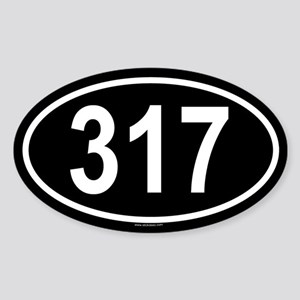 317 Oval Sticker