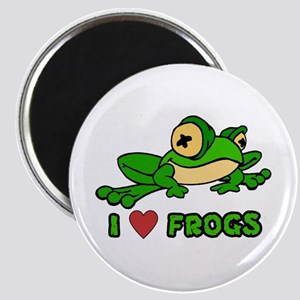 I Love Frogs Magnet