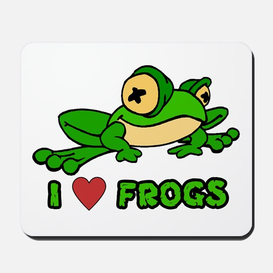 I Love Frogs Mousepad