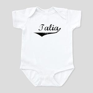 Talia Vintage (Black) Infant Bodysuit