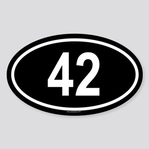 42 Oval Sticker