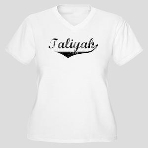 Taliyah Vintage (Black) Women's Plus Size V-Neck T