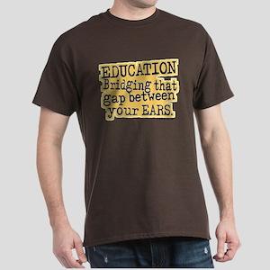 Beige, Education Bridging The Gap Dark T-Shirt