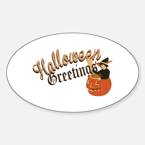 Halloween Greetings Decal