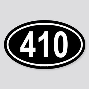 410 Oval Sticker