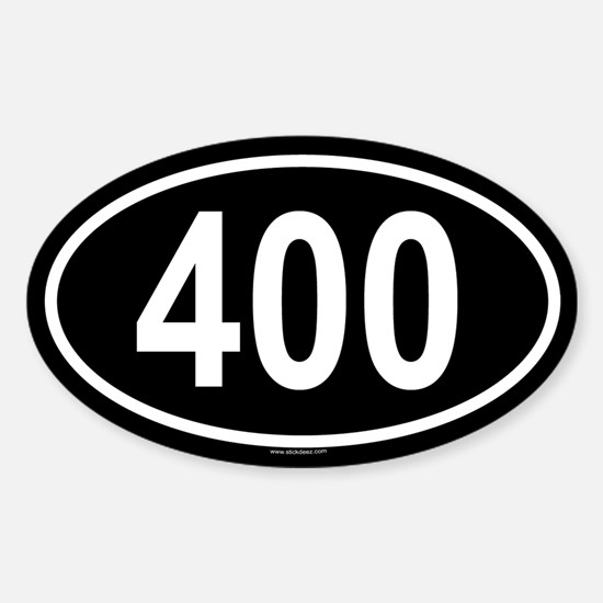 400 Oval Decal