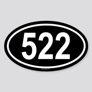 522 Oval Sticker