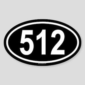 512 Oval Sticker