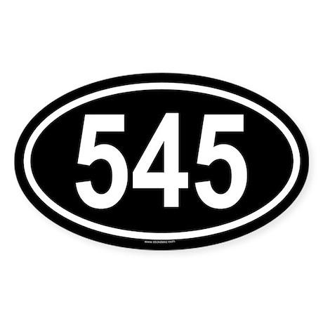 545 Oval Sticker