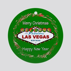 Las Vegas MC/Happy New Year Ornament (Rnd)
