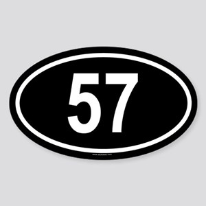 57 Oval Sticker