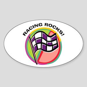 Rack 'Em Pool Oval Sticker