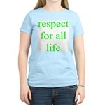 326. [green] respect for all life. .  Women's Pink