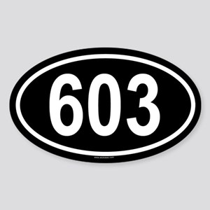 603 Oval Sticker