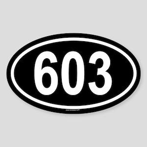 603 Oval Sticker