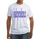 321. independence [blue] Fitted T-Shirt