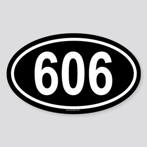 606 Oval Sticker