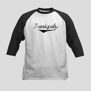 Taniyah Vintage (Black) Kids Baseball Jersey