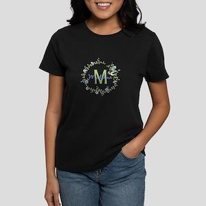 Bird Floral Wreath Monogram T-Shirt