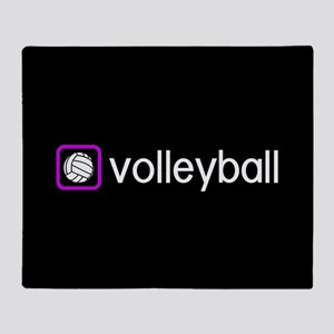 Volleyball (Purple) Throw Blanket