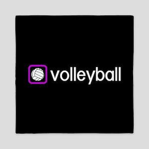 Volleyball (Purple) Queen Duvet
