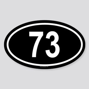 73 Oval Sticker