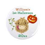 Wee Hamish Highland Cow Button