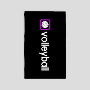 Volleyball (Purple) Area Rug