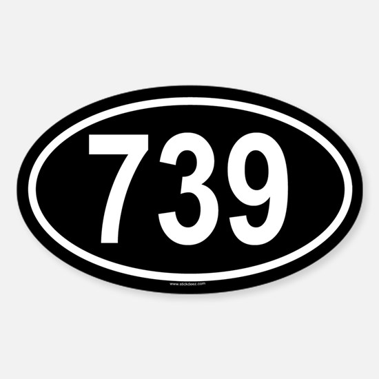 739 Oval Decal