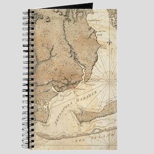Vintage Map of Pensacola Florida (1780) Journal