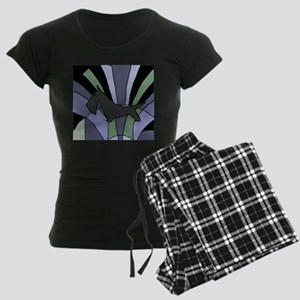 Scottish Terrier Art Deco Women's Dark Pajamas