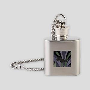 Scottish Terrier Art Deco Flask Necklace