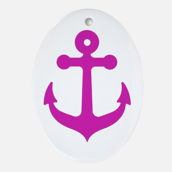 Anchor Oval Ornament