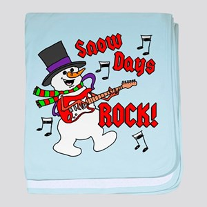 Snow Days Rock baby blanket