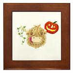 Wee Hamish Highland Cow Halloween Framed Tile