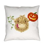 Wee Hamish Highland Cow Halloween Everyday Pillow