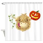 Wee Hamish Highland Cow Halloween Shower Curtain